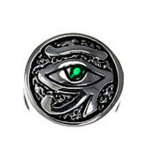 COOL Sterling Silver .925 Egyptian Emerald Eye of Horus European BEAD Charm jewe