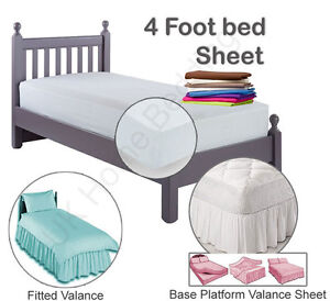 Three Quarter Size sheets in a variety of Dark colours -  Small Double