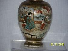 Japanese Meiji Period c1875-1895 Satsuma Kinkozan Signed Oil Lamp
