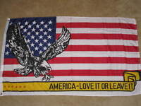3X5 AMERICA  LOVE IT OR LEAVE IT FLAG USA US NEW F507