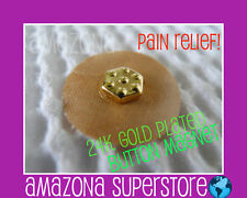 NIKKEN MAGBIEN 24k Gold Plated Magnetic Therapy Button - ACUPUNCTURE MAGNET