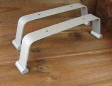 Metall Tischuntergestell Tischbein 465x50x135mm Alu-Optik Tisch Untergestell