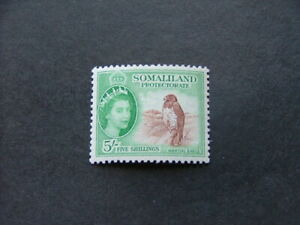 Somaliland Protectorate QEII 1953 5/- red-brown & emerald SG147 MM