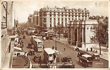 BR93928 marble arch oxford street london double decker bus car real photo   uk