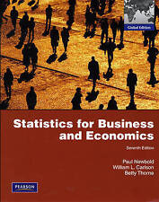 Statistics for Business and Economics: Global Edition (International Edition) b