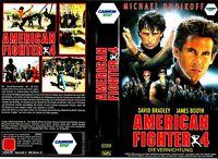 "VHS - FSK 18 - "" American FIGHTER 4 - Die Vernichtung "" (1990) Michael Dudikoff"