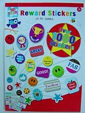 Reward Sticker Pad, 10 A4 Sheets, 1000+ bright colourful child /school stickers