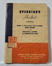 1952 Gm Diesel Power Operators Hand Book Manual 2 Cycle Engine Generator Unit
