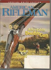 American Rifleman August 2001 The Affordable Double Gun/Knife Section
