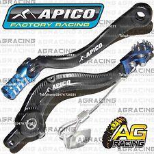 Apico Black Blue Rear Brake & Gear Pedal Lever For KTM SXF 350 2012 Motocross