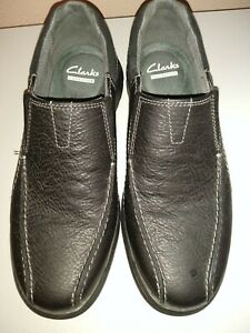 Clarks Collection Soft Cushion Ortholite Men's Black 8 Slip On