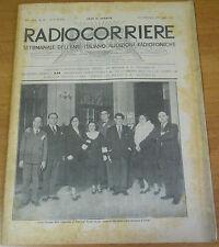 RADIOCORRIERE EIAR 1932 ANNO VIII  N° 50 - PUBBLICITA' RADIO CROSLEY ITALIANA