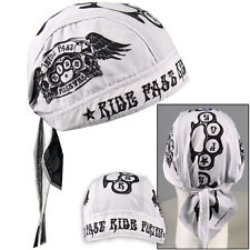 Biker Chopper Kopftuch Bandana Headwrap Ride Fast Forever Schlagring Wings NEU
