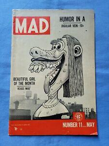 MAD 11 • EC comic Magazine • Basil Wolverton cover Wally Wood Jack Davis • VG+