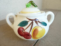 "Stangl Pottery Fruit    Sugar Bowl & Lid        3"""