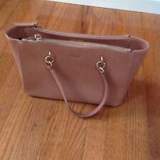 DKNY Women's Handbag Light Pink Leather Satchel Shoulder Purse