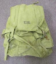 WORLD WAR II U.S. RUCKSACK BACKPACK.  ORIGINAL. W/ STEEL FRAME.  MILITARY ISSU.