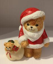 Enesco Lucy Rigg Lucy&Me Bears 1981 Christmas Santa Bear W/toy Sack