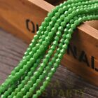 New 200pcs 4mm Bicone Faceted Lustrous Loose Spacer Glass Beads Green