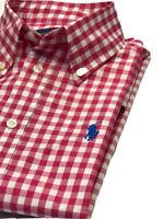 Ralph Lauren Woman dark pink And White Check Shirt