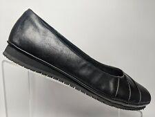 Skechers Ballet Flats Comfort Loafer Slip On Slip Resistant Black Womens 6.5