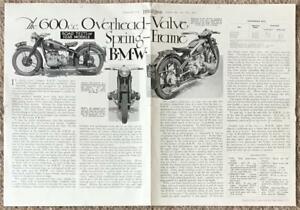 BMW AFN LTD MOTORCYCLES 1938 Road Test Reprints Motor Cycling Magazine R5 R71s