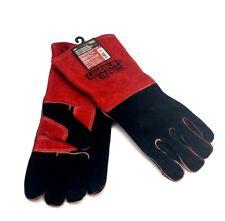 Lincoln Electric Kh643 Welding Gloves Redblack Leather Pr
