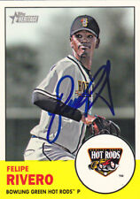 FELIPE RIVERO BOWLING GREEN HOT RODS SIGNED CARD PITTSBURGH PIRATES NATIONALS