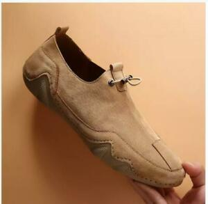 Mens Soft Driving Moccasins Shoes Pumps Slip on Loafers Breathable Flats Comfy @