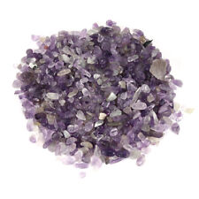 8 oz Tiny to Small Polished Amethyst Chips Tumbled Stone Irregular Shaped Quartz