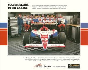 2010 A.J. Foyt Racing Gladiator Honda Dallara Indy 500 Indy Car Hero Card