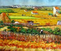 Van Gogh The Harvest Repro, Quality Hand Painted Oil Painting 20x24in