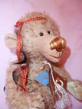 Künstlerteddy Bär Bear Teddybär alter HIPPIE Schildkröt Flower Power