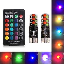 CANBUS T10 RGB Bombilla Coche Cuña lateral Kit de Luz Bombilla LED con conjunto de control remoto