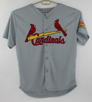 St. Louis Cardinals Gray Embroidered Button Front SGA Giveaway Jersey Size XL