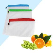 Réutilisable Produire Sacs Courses de Conservation Lavable Mesh Bag Fruit Légume