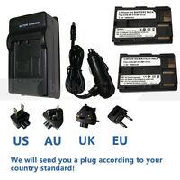 2X BP-511A Battery + Charger for Canon EOS 20D 30D 300D 40D 50D 5D BP-512
