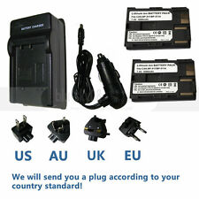 2X Battery+charger FOR Canon ZR-85 ZR85 ZR-90 ZR90 BP-511 BP511A BP512 digital