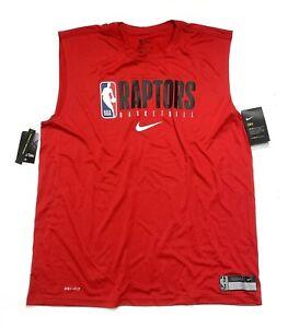 NBA Nike Toronto Raptors Dri-Fit Sleeveless Tee T-Shirt CD2786-657 Men's Size 2X