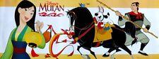 "DISNEY ""MULAN"" ASIAN MOVIE POSTER BANNER - Characters Behind Fa Holding Lantern"