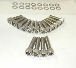Mercury Cougar FE 390 - 428 Stock Exhaust Bolts Stainless Steel Socket HD NEW