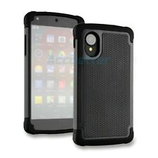 Black Armor Heavy Duty Impact Rugged Hard Case Cover for LG Google Nexus 5 New