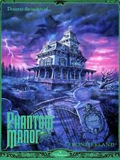 "Phantom Manor Disney Euro Paris 16"" x 12"" Reproduction Promo Poster"