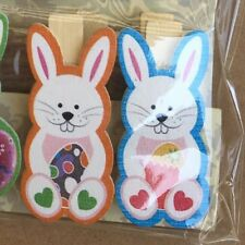 Rabbit Wooden Clips Easter Decoration Bunny Clip Gift Bag Candy Party Supplies