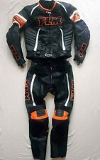 FLM Diablo wie NEU Größe 52 Lederkombi Supermoto Orange KTM Leather Suit