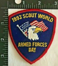 1993 SCOUT WORLD ARMED FORCES DAY BOY SCOUTS of AMERICA PATCH (BSA)
