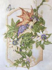 ANCHOR Fleur De Lis Cross Stitch Kit PASSION FLOWER ~Sealed~Fairy~Flower