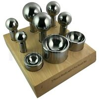 Cupola set 9pc 50-60mm Doming Dapping Shaping Block Watch Jewellery Craft Tool