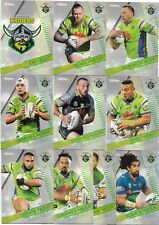 2018 NRL Traders Pearl Parallel Special RAIDERS Team Set
