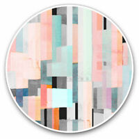 2 x Vinyl Stickers 7.5cm - Cool Abstract Painting Art Pink Blue Cool Gift #12442